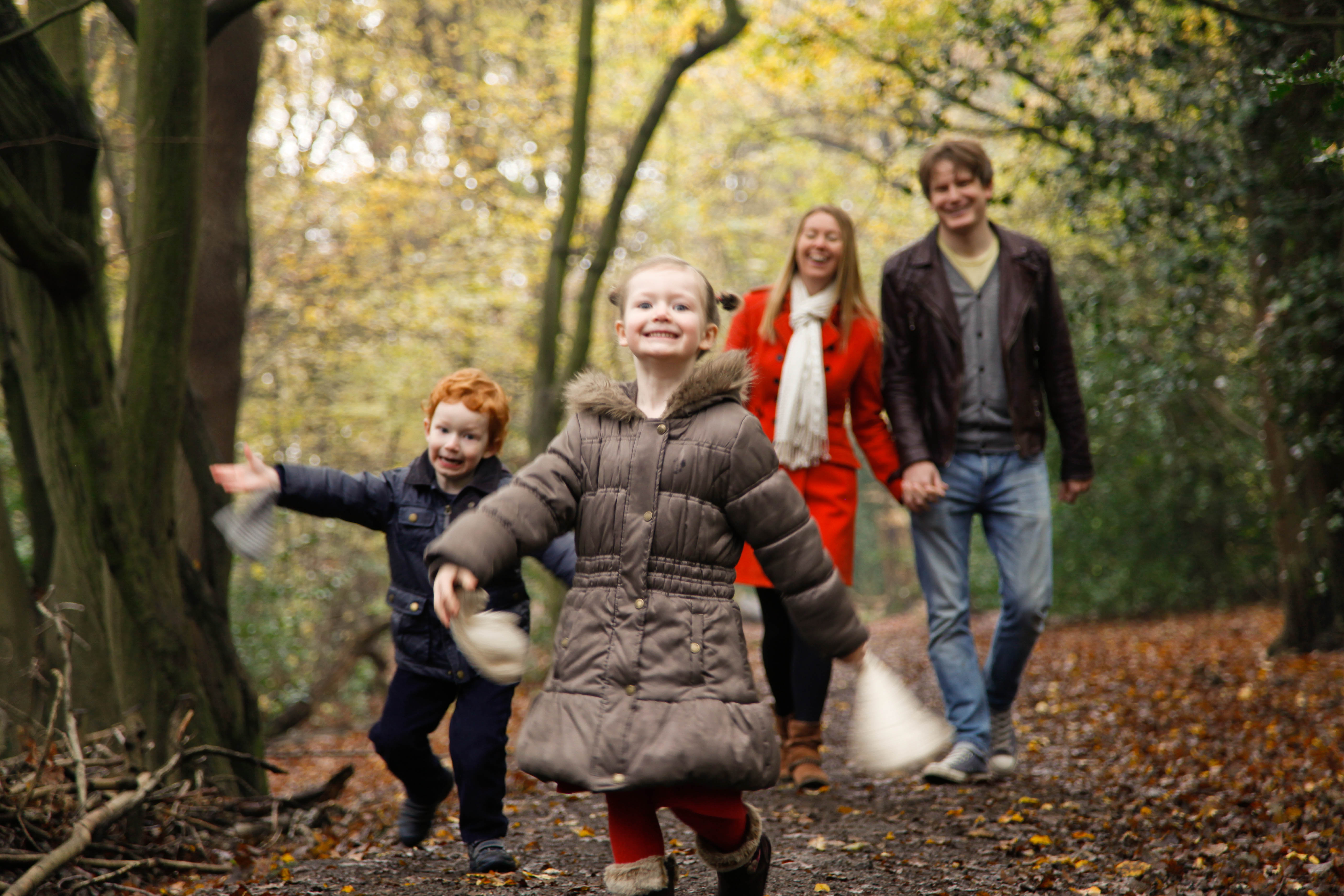 Family Day in the Woods Photography